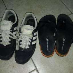 Tênis Adidas e sandália Kenner (Originais) Tam   42 2a8420763a1da