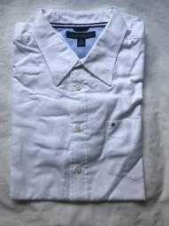 4600fcbd11 Camisa Social Branca Tommy Hilfiger