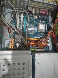 Placa Mãe DDR2 com HD, Pente de Memória e Processador Intel Core 2 Duo - Nunca usado