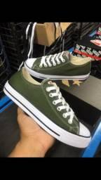 Tênis all star verde militar
