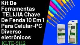 Kit De Ferramentas P/celulares Multiuso 10x1 Klte-5112 Telijia