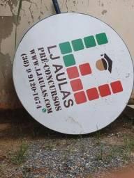 Placa redonda de metal para propaganda