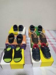 Sapatos e roupas diferentes marcas
