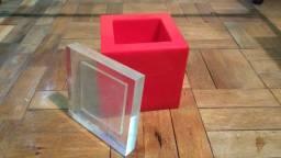 Caixa de acrílico - Balde de gelo  - década de 70