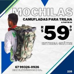 Mochilas para Trilha de 38 à 50L (entrega grátis)