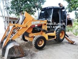 Título do anúncio: Retroescavadeira Case 580n 2014 com contrato de serviço em Palmas