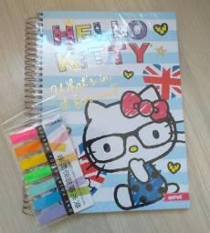 Kit caderno e marcador de páginas adesivo importado