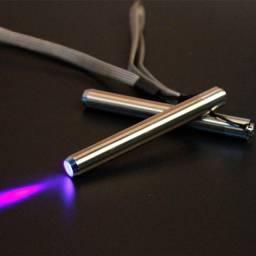 Lanterna Ultravioleta em Inox, checa dinheiro