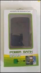 Título do anúncio: carregador portátil 5000 mah pawer bank cabo v8 Carregador Portátil  5000 mAh preto.