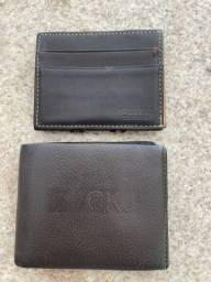 carteiras CKJ e Richards em couro legítimo Original ambas