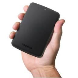 HD Externo 1TB Toshiba Semi Novo, Garantia e até 12x sem juros no cartão