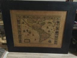 Quadro de Mapa Antigo importado