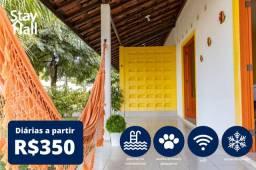 Casa em Carneiros 4Qts - Condomínio c/ Piscina, 12 pessoas