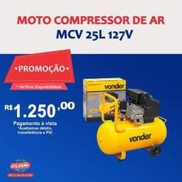 Título do anúncio: Motocompressor de Ar 25 Litros 127v