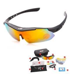 Título do anúncio: Óculos De Ciclismo Bike Pedal Robesbon Transparente/polariza 5 lentes