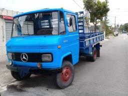 caminhão mercedes 608d ano 1977 - carroceria aberta, todo reformado.