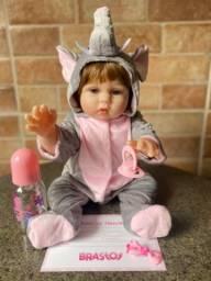 Título do anúncio: Linda Boneca Bebê Reborn Realista Toda em Silicone Nova (aceito cartão)