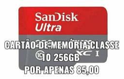 Cartão de memória 256Gb classe 10