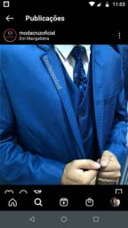 Terno slim corte italiano - poliviscose azul luxo Encerado