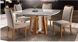 Mesa laqueada 4 cadeiras nova !