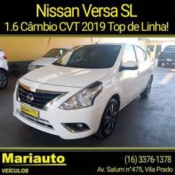 Título do anúncio: NISSAN VERSA 1.6 SL AUTOMÁTICO TOP DE LINHA