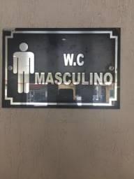 Placa para banheiro