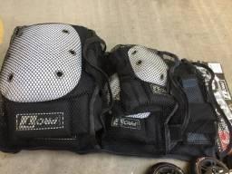 Patins e kit de proteção