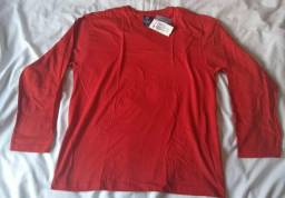 Camiseta manga longa gola v masculino hering original b04451a131f