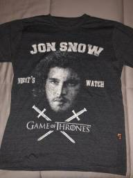 77841507b Camisa Jon Snow Game Of Thrones - Tam P