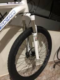Bike zaskar 27,5 suspensão rock shox ar e oleo com trava