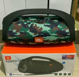 Caixa de Som JBL BOOMS BOX GRANDE Potente Bluetooth Sd USB Aux FM