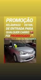 Showroom DE VENDAS! R$1MIL DE ENTRADA(ETIOS 1.3 X ANO 2014)