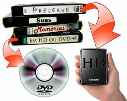 Conversão de fitas vhs para dvd ,pen drive,hd externo em Cuiabá Mt