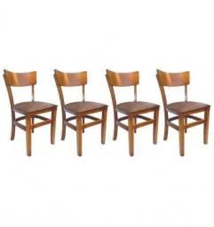 Cadeira de Madeira estofada Direto da Fabrica