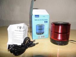 Caixinha de som Inova som forte usb Bluetooth fm produto novo escute o que quiser