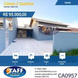 FPP- Casa 2 quarto com área Gourmet dentro de condomínio em Unamar - Cabo Frio