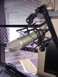 Kit microfone rode NT1-A + Interface de áudio Behringer UMC204HD com acessórios