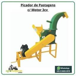 Enviamos Para Todo Brasil - Picador M-600 PV com Motor 3hp - Agromaquinas