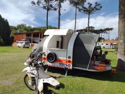 Trailer reboque retrátil camping pescarias