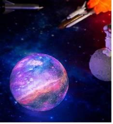 Umidificador E Luminária Lua Colorida Mini Universo Galáxia