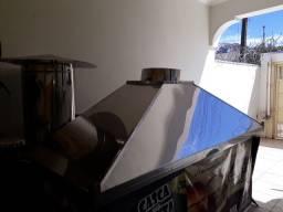 Vendo Coifa de Inox 2,5mt × 90cm (parede)
