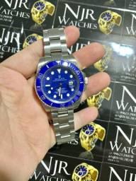 Relogio Rolex azul prata automatico