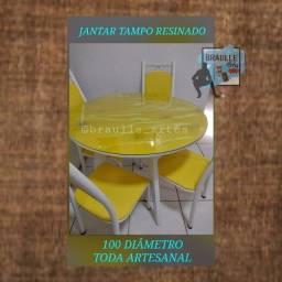 Título do anúncio: Mesas de tampo de resina, só as mesas