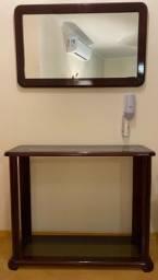 Aparador com vidro + espelho