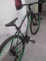 Vendo Bicicleta Bolton Microshift 2x9 F. Hidraulico Preto e Verde