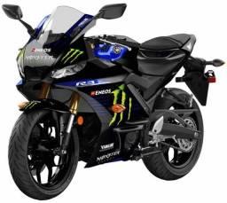 Yamaha R3 Monster 20/21-Entrada facilitada no cartão + 18X S/Juros (Financ.)-Poucas Unid