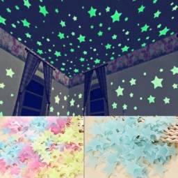 100 pcs Estrela Luminosa Remendo Fluorescente
