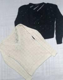 Título do anúncio: Blusas de linho (P e M)