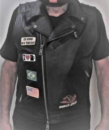 Título do anúncio: Colete de couro Harley Davidson