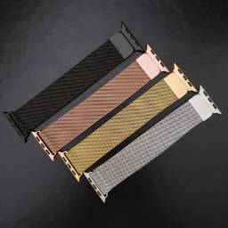 Título do anúncio: Pulseira Milanês Aço Para Smart Watch 38mm 40mm 42mm 44mm